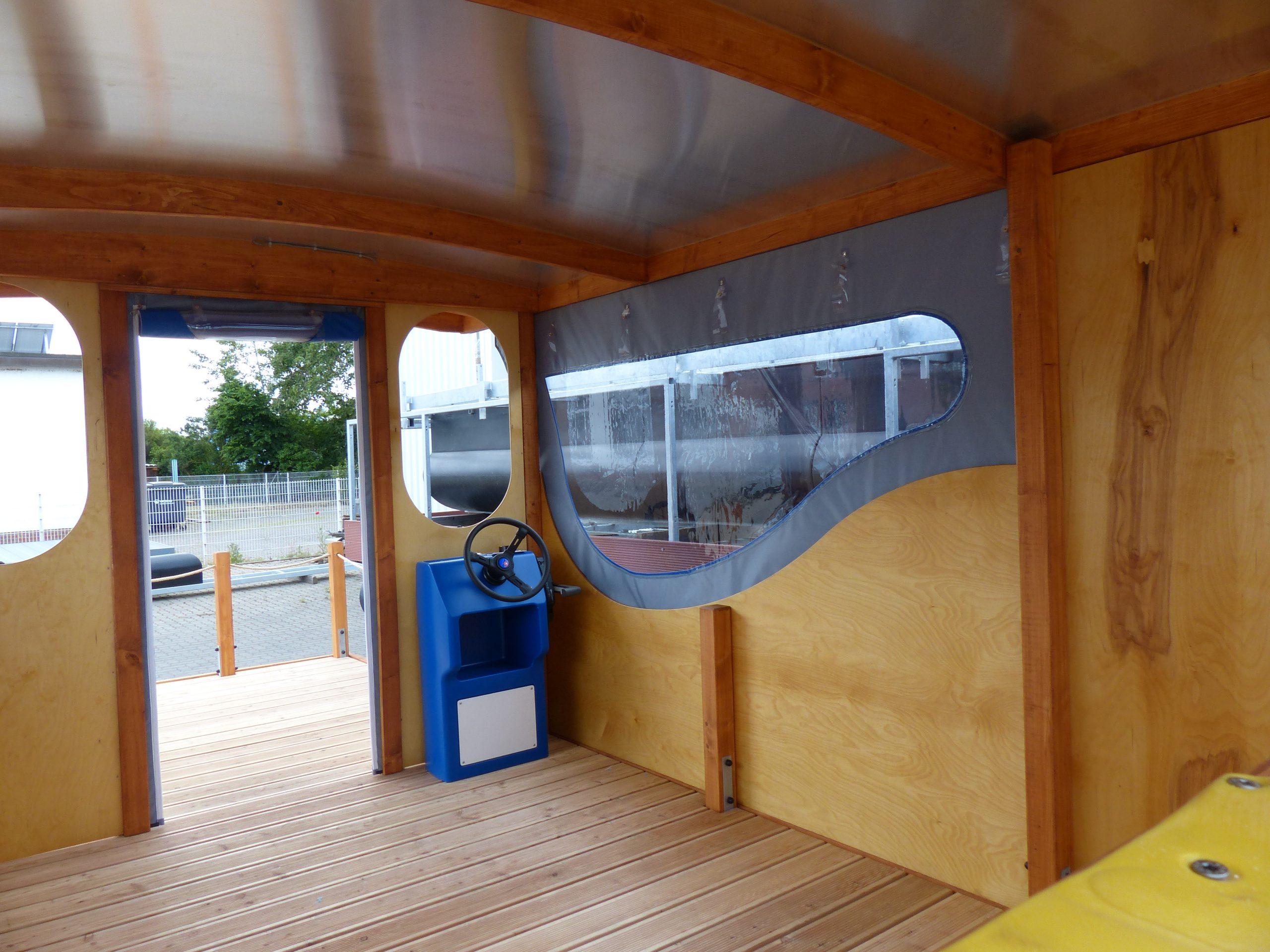 Die Innenansicht eines Mc-Bootes nach der Fertigstellung
